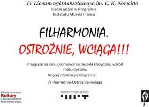 Filharmonia – wciąga maturzystów