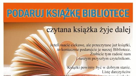 Podaruj książkę bibliotece