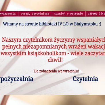www.biblioteka4lo – zapraszamy
