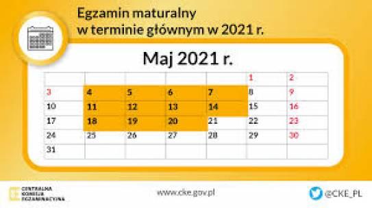 Harmonogram matury 2021
