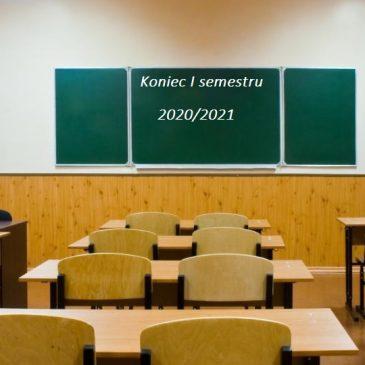 Koniec I semestru